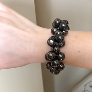 French Connection Beaded Black/Grey Bracelet